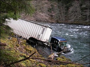 Truck in Creek
