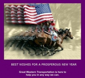 Great Western New Year Horse and Flag