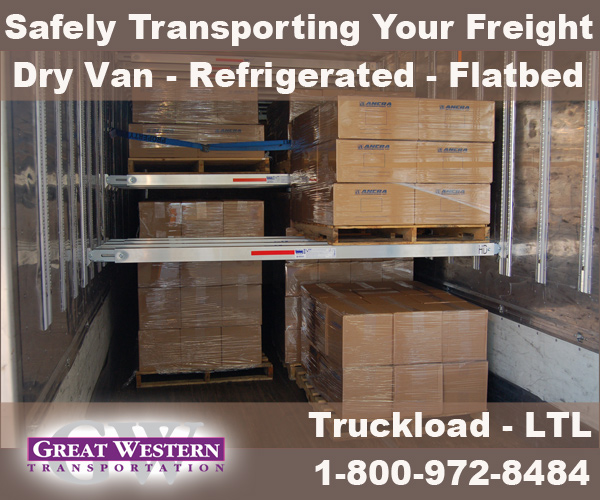 Safely Transporting Your Freight Great Western