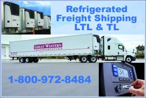 Refrigerated Frozen Chilled Freight TL LTL Shipping Trucking
